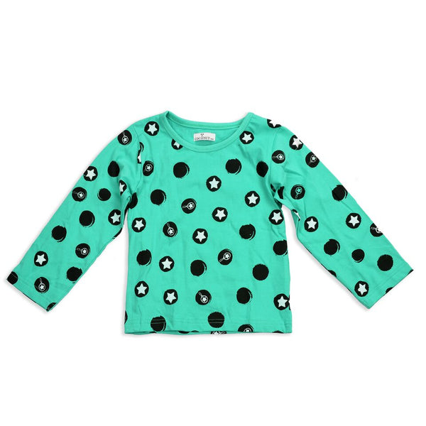 Coconut Teal Star Tee - cutelittlemonster.com