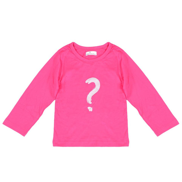 Coconut Pink Question Mark Tee - cutelittlemonster.com