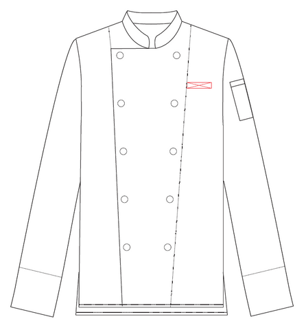 Classic Chef Jacket Embroidery Name
