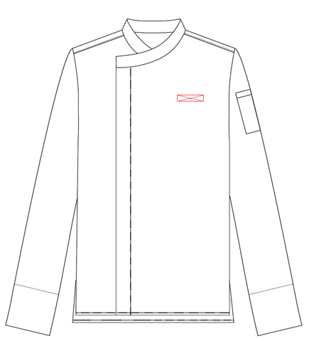 Chef Jacket Name Embroidery