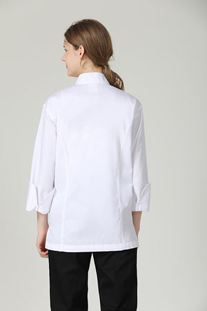 Classic White Long Sleeve - Green Chef Wear