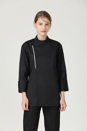 Basil Black Long Sleeve - Green Chef Wear