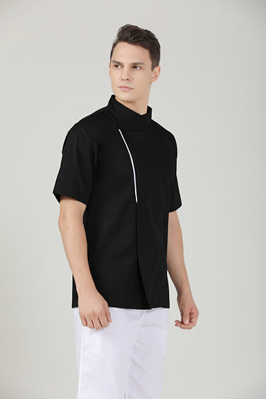Basil Black Short Sleeve - Green Chef Wear