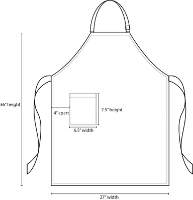 Black Bib Apron - Green Chef Wear
