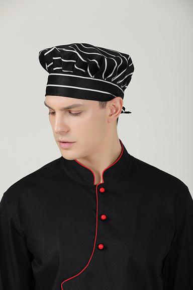 Poppy Big Stripes Chef Toque - Green Chef Wear