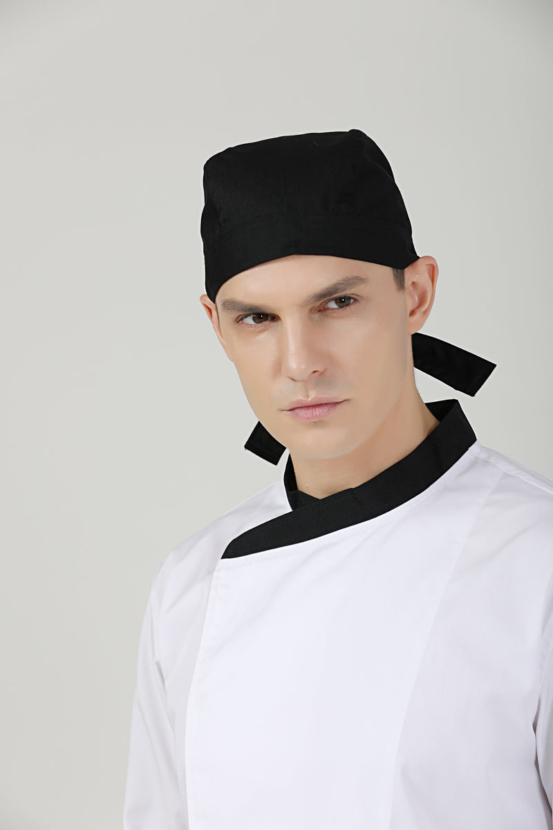 Caribbean Cap, Black - Green Chef Wear
