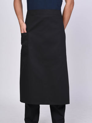 "Black Chef Apron 27"" - Green Chef Wear"