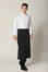 Flap Apron (Slit), Black - Green Chef Wear