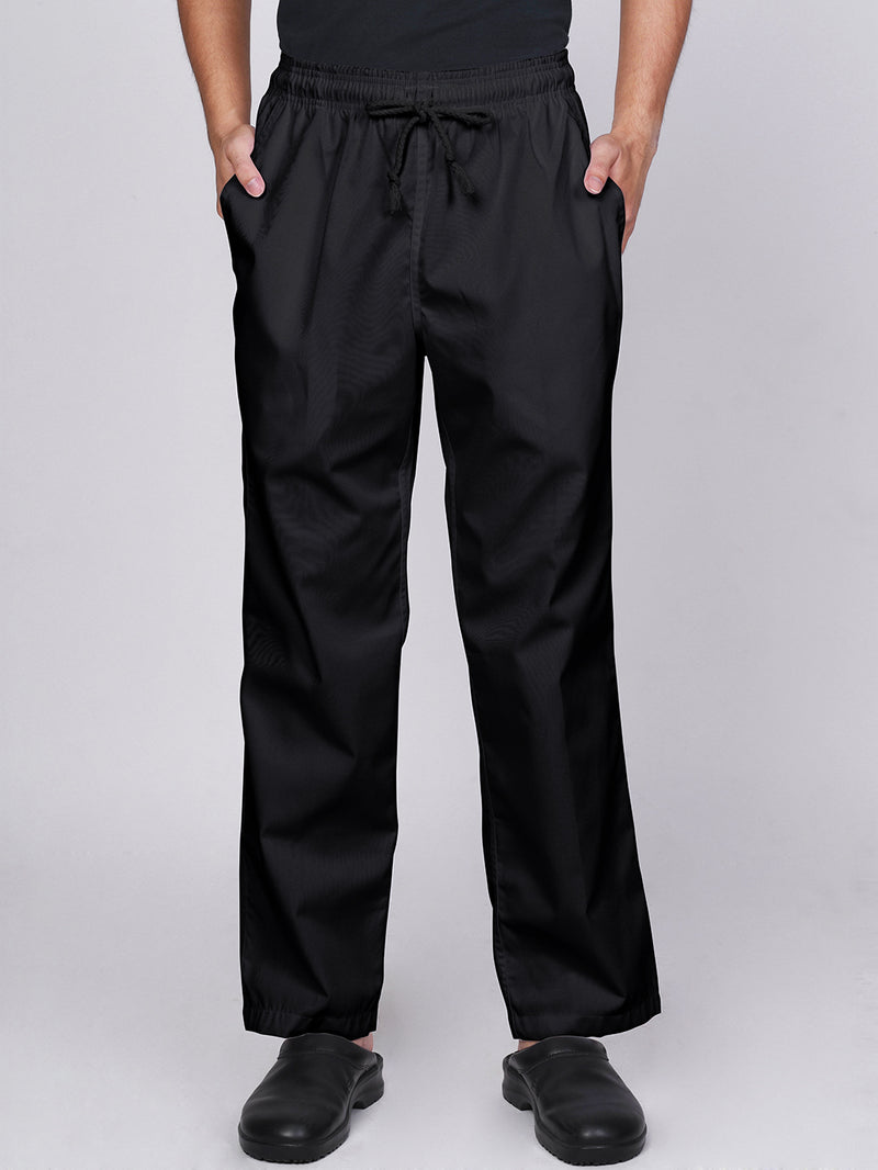 Black Chef Pants - Green Chef Wear