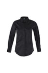 Service Shirt L|S, Female, Black - Green Chef Wear
