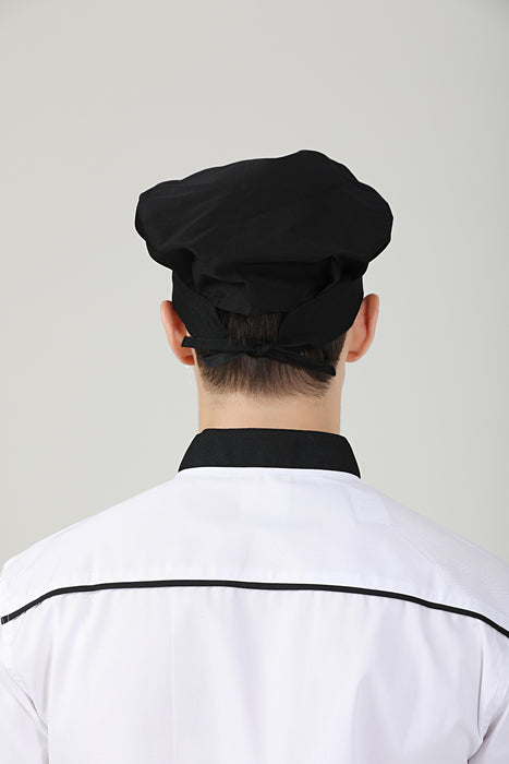 Poppy Black Chef Toque - Green Chef Wear