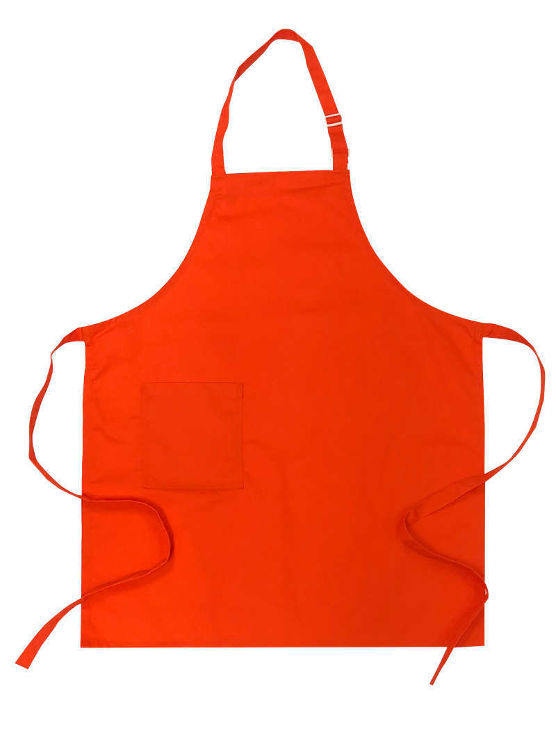 Orange Bib Apron - Green Chef Wear