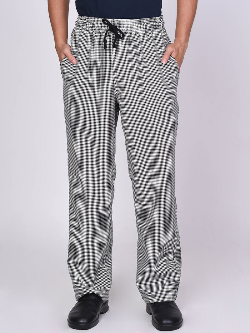 Checkered Chef Pants - Green Chef Wear