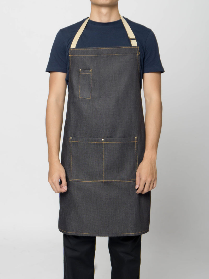 Caleb Demko Bib Apron - Green Chef Wear