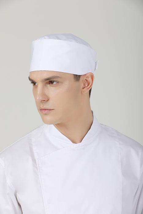 Dandelion White, Chef Beanie - Green Chef Wear