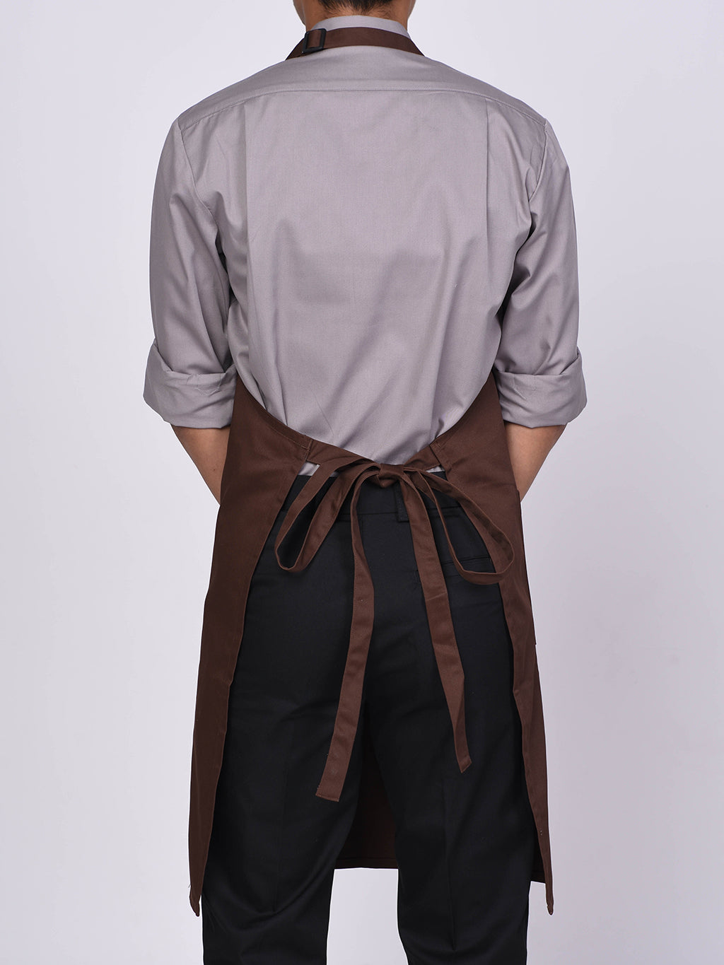 Dark Brown Bib Apron - Green Chef Wear