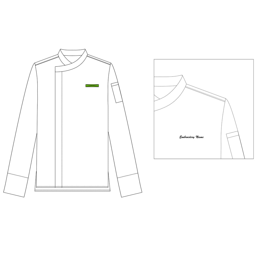 Title Embroidery - Green Chef Wear