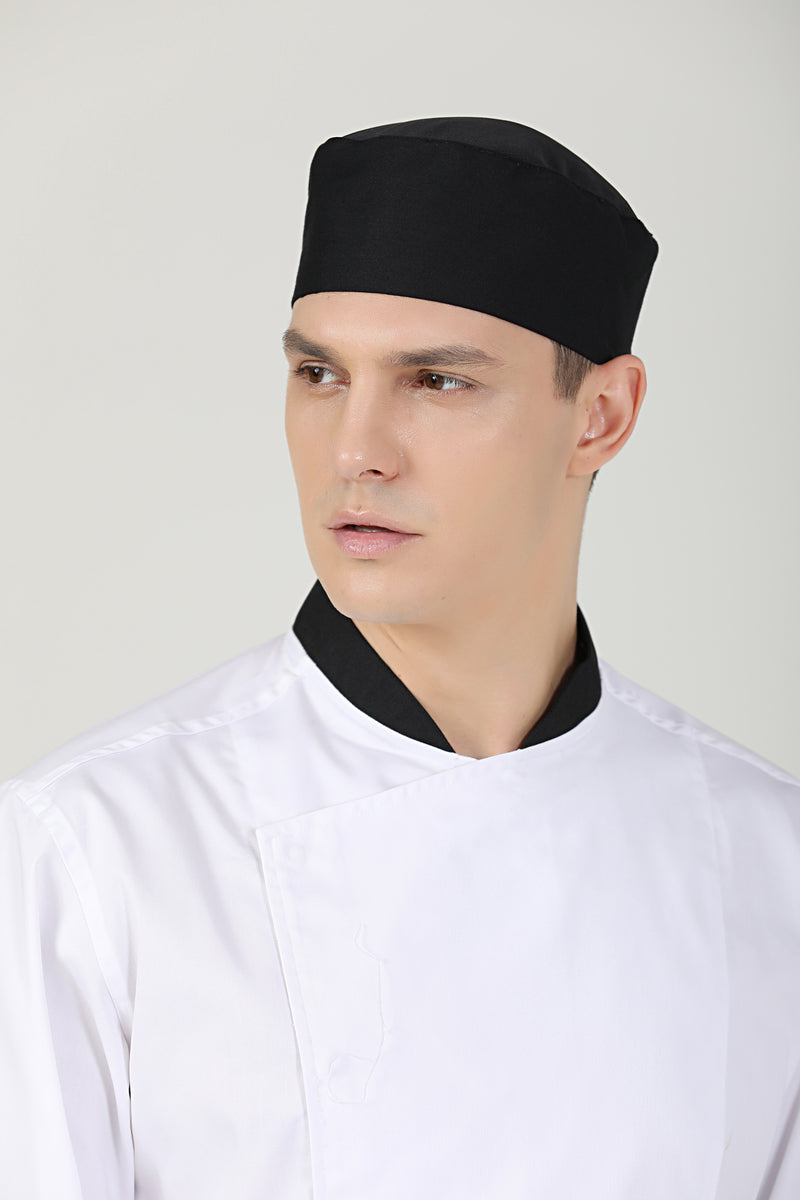 Gladiolus Black Chef Beanie, Vent - Green Chef Wear