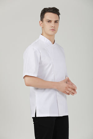 Holly Short Sleeve Chef Jacket - Green Chef Wear
