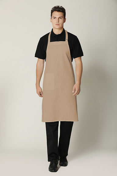 Khaki Bib Apron - Green Chef Wear