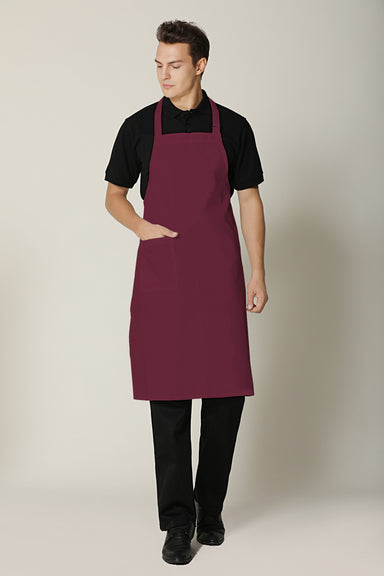 Maroon Bib Apron - Green Chef Wear