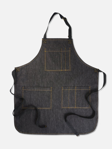 Martis Denim Bib Apron, Black