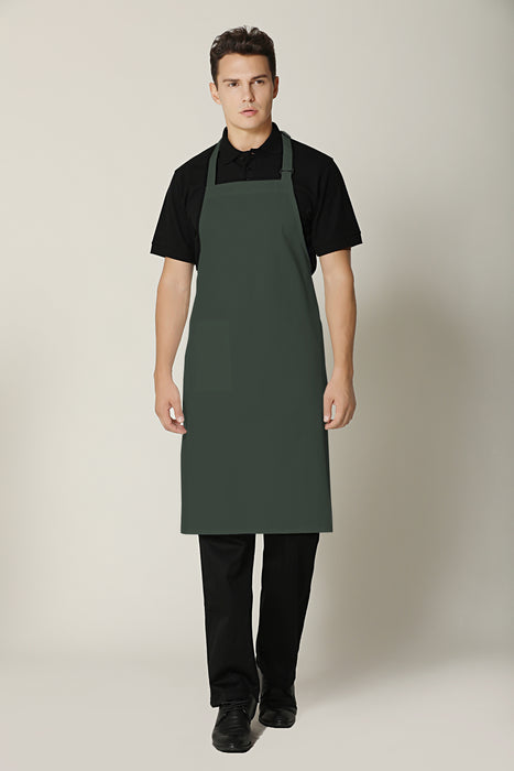 Olive Bib Apron - Green Chef Wear