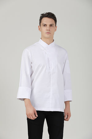 Parsley White Chef Jacket - Green Chef Wear