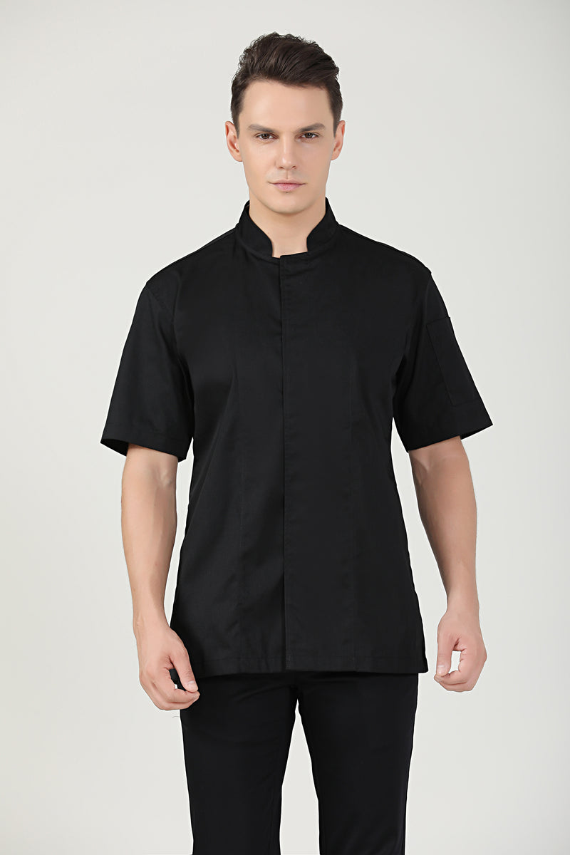 Peppermint Black Short Sleeve - Green Chef Wear