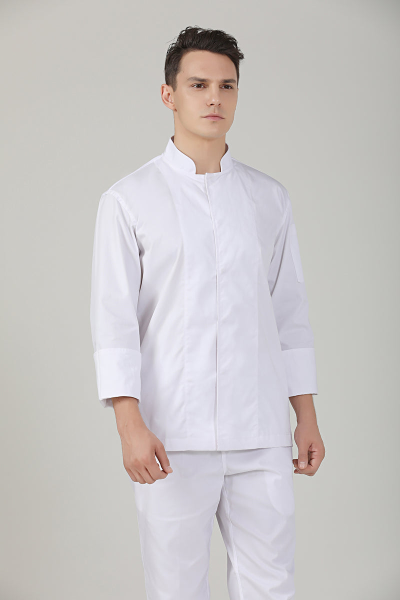 Peppermint White Long Sleeve - Green Chef Wear