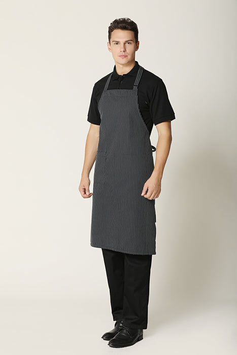 Small Stripes Bib Apron - Green Chef Wear