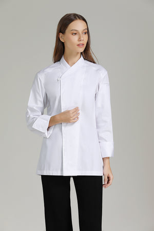 Tarragon White Long Sleeve - Green Chef Wear