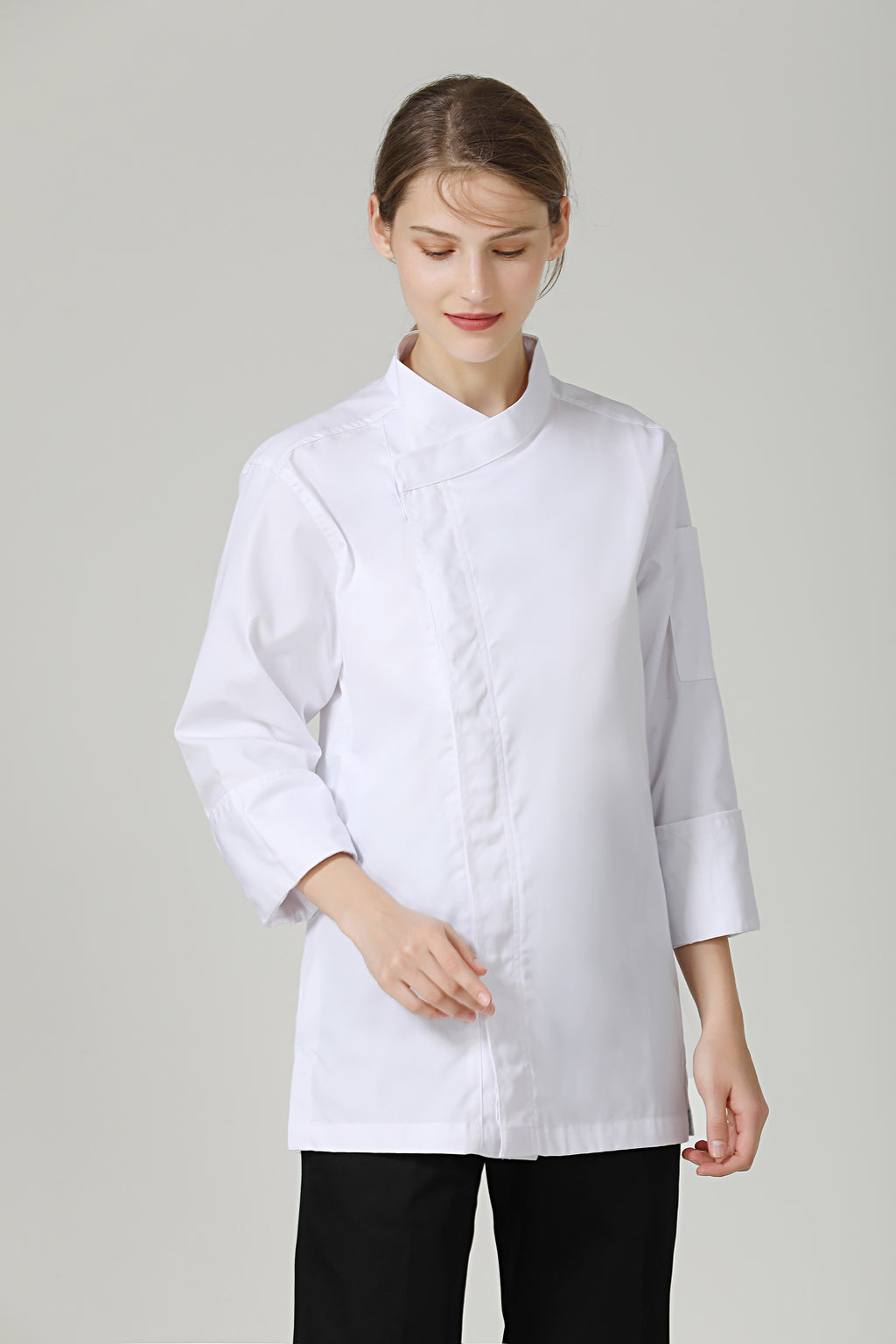 Thyme White Long Sleeve - Green Chef Wear