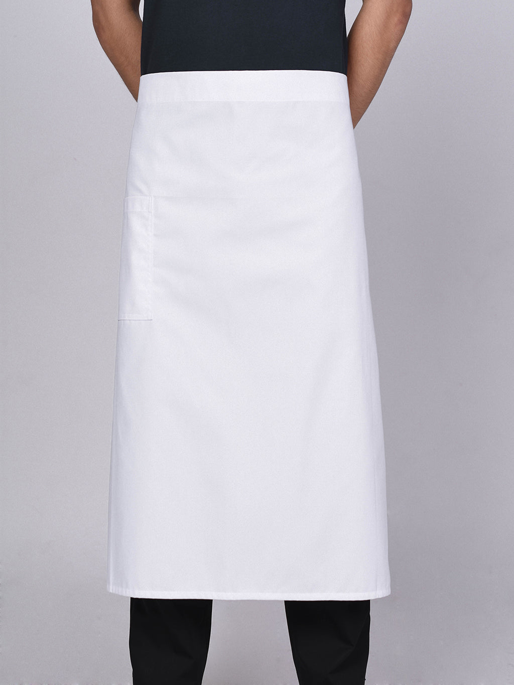 "White Chef Apron 27"" - Green Chef Wear"