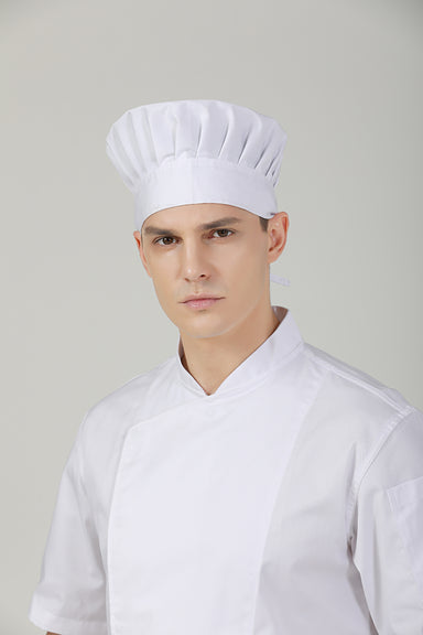 Poppy White Chef Toque - Green Chef Wear