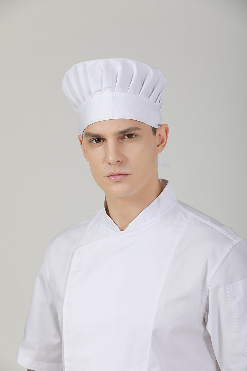 White Toque (M) no Vent - Green Chef Wear