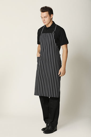 Big Stripes Bib Apron - Green Chef Wear