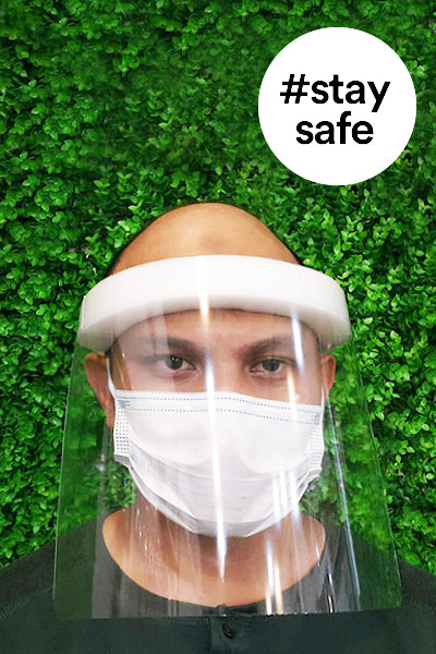 Disposable Face Shield, 5pcs - Green Chef Wear
