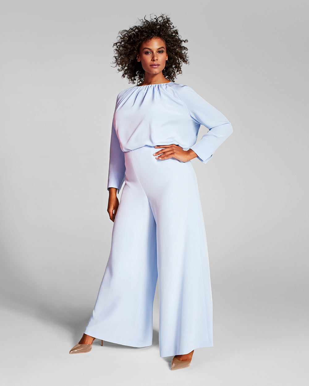 Crepe Silk Wide Leg Pant by Adam Lippes