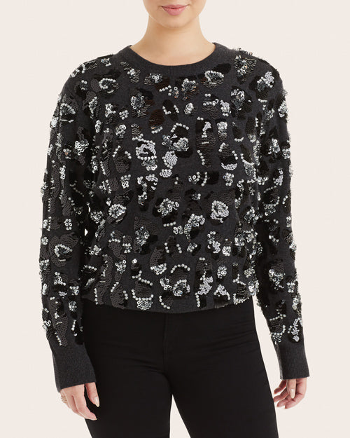Michael Kors Collection Cashmere Leopard Print Sweater