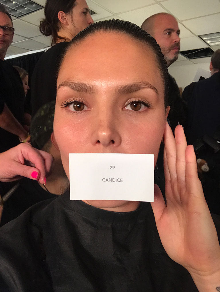 Candice Huffine Plus Size Model New York Fashion Week Prabal Gurung Show