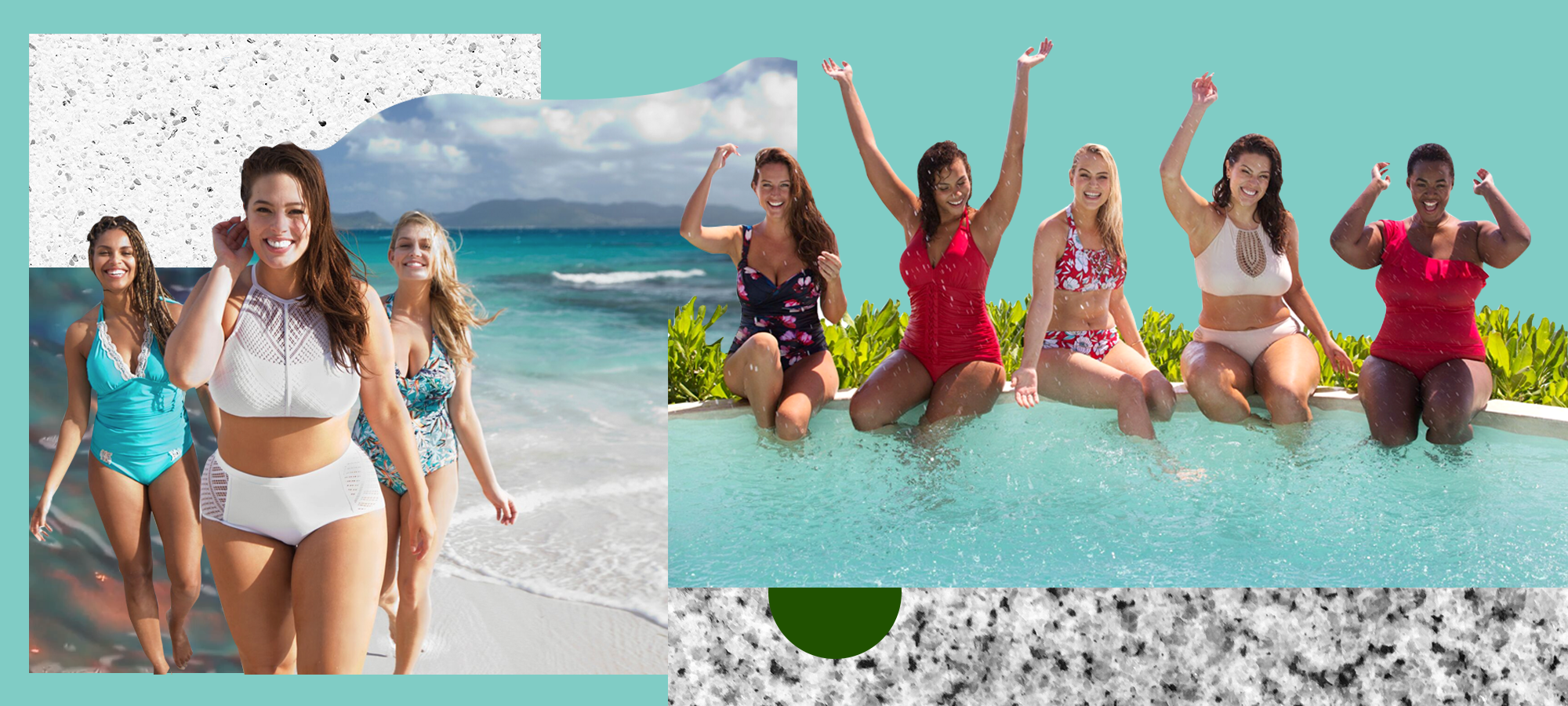 plus size swimsuits, swimsuits for all, size inclusive swimsuits
