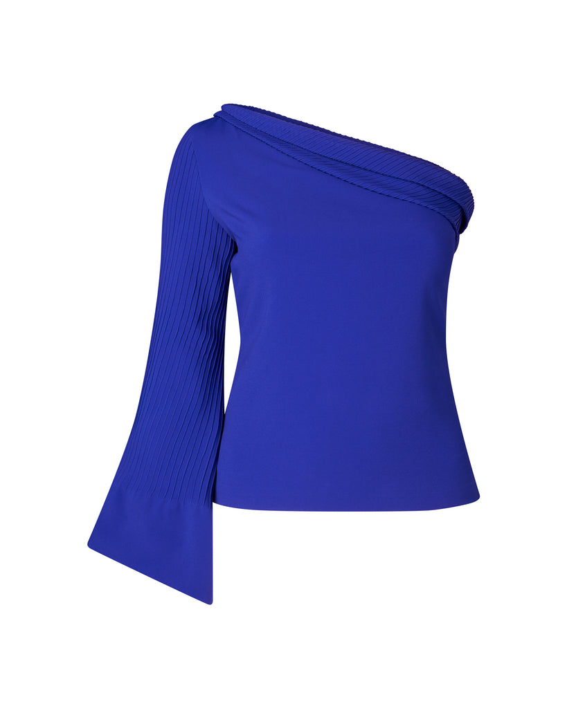 One Shoulder Statement Sleeve Top