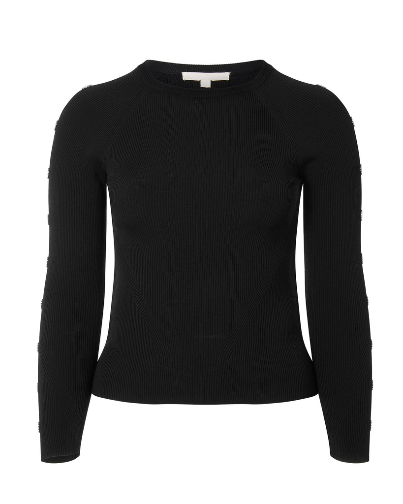 Rib Knit Crew Neck Top