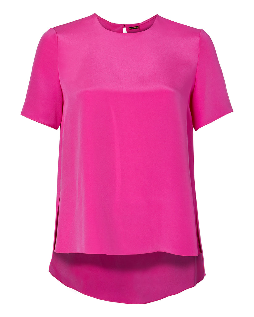 Short Sleeve Back Pleat Top