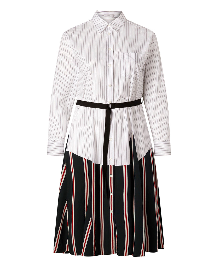 Striped Gabardine Shirtdress