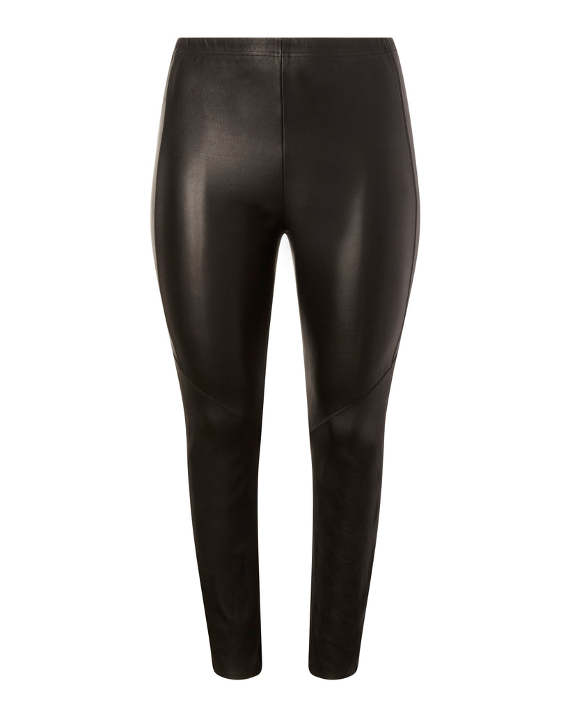 Zero Cropped Leather Leggings w/ Zipper