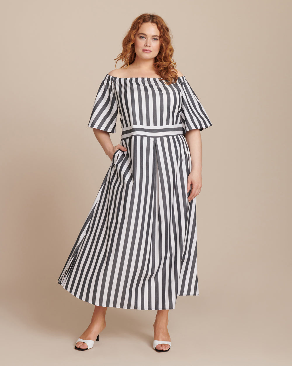 Denotato Off the Shoulder Dress