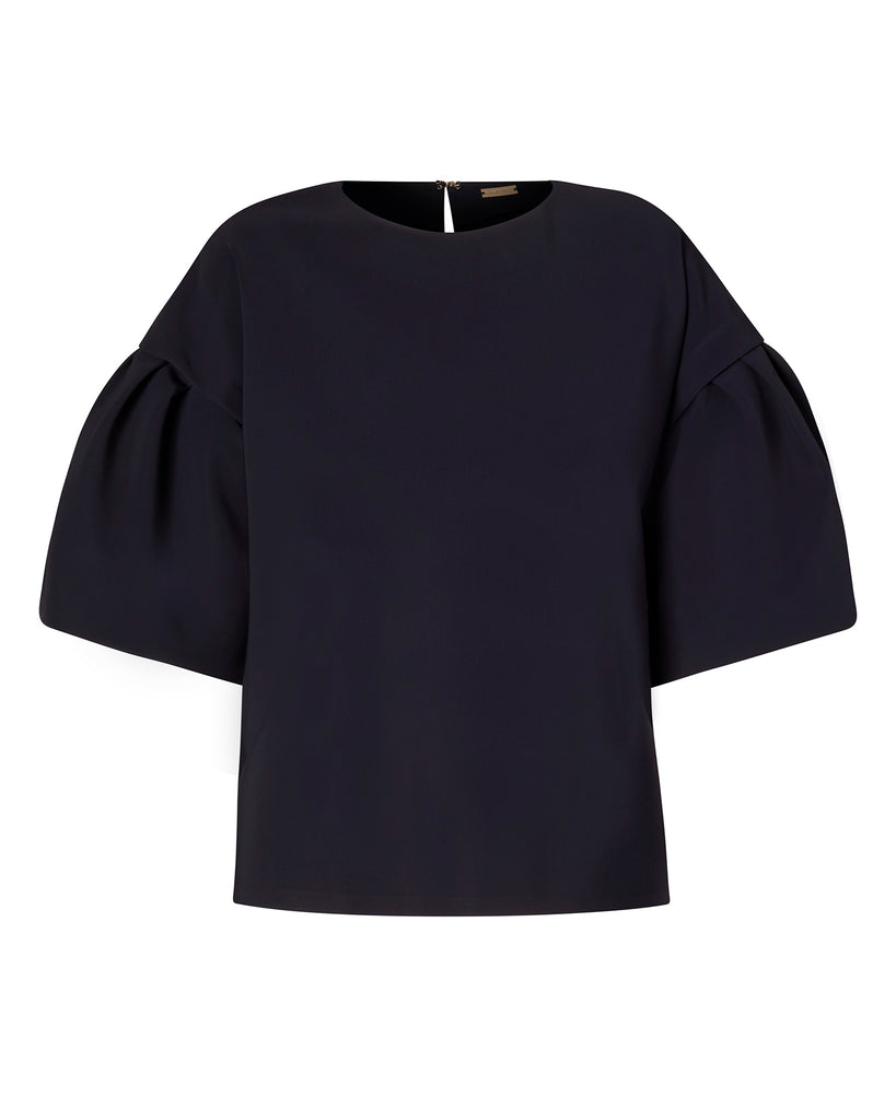 Bonded Neoprene Flutter Sleeve Top