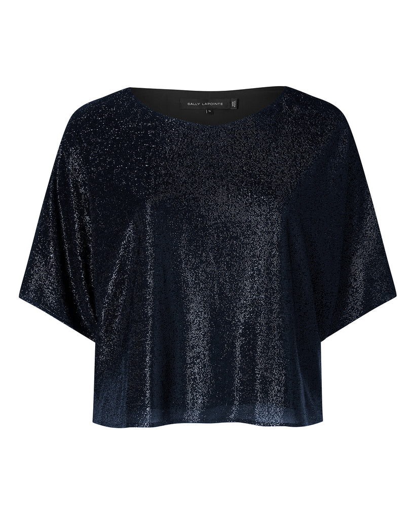 Metallic Knit Dolman Tee